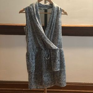 Rachel Roy blue snakeskin print mini dress - NWOT